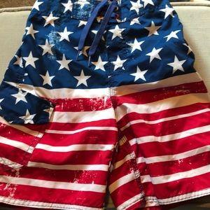 Americana size 8 swim trunk